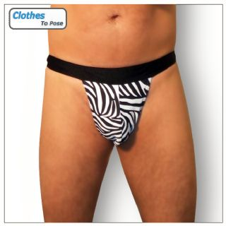 Mens G String - Zebra